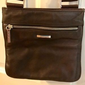 Nine West Leather Brown Crossbody Bag